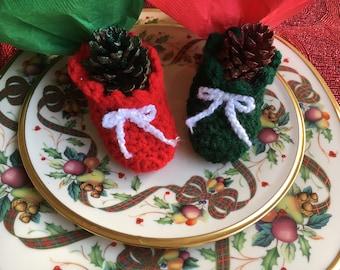 Christmas Stocking Place Card Holder and Napkin Holder