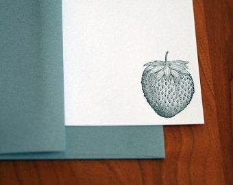 Strawberry Letterpress Notecard Set