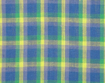 Plaid Fabric | Cotton Fabric | Homespun Fabric | Sewing Fabric | Woven Fabric | Rag Quilt Fabric | Doll Making Fabric