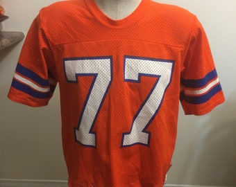 Vintage Denver Broncos Sand Knit Football Jersey Size XL 1980s