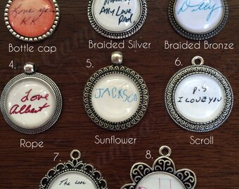 YOUR OWN HANDWRITING - Actual Handwriting - Handwriting Pendant Necklace - Custom Handwriting Pendant Necklace - Signature necklace