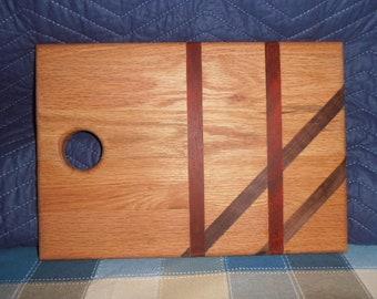 Wooden Black Walnut, Oak and Paduk Bread Board