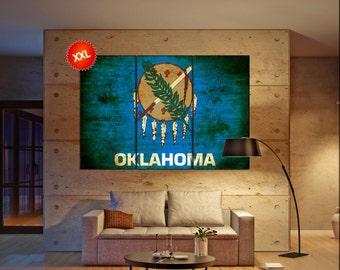 oklahoma state flag  canvas oklahoma state flag wall decoration oklahoma state flag canvas art oklahoma state flag large canvas