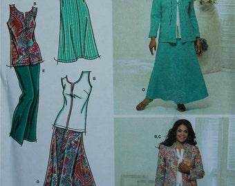 "Dress, Jacket, Pants, Skirt & Top Khaliah Ali Collection Simplicity Pattern 3805  Uncut  Sizes 10-12-14-16-18  Bust  32.5 to 40"""