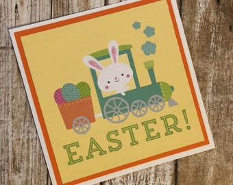Easter Card, Easter Bunny, Easter Cards, Easter, Card, Cards, Handmade Cards, Card For Mom, Note Cards, Yellow, Christian, Bunny