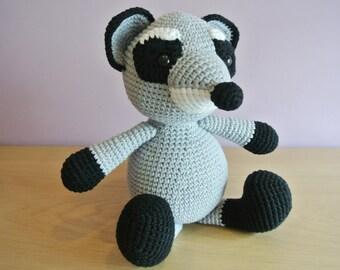 Bandit Crochet Raccoon Amigurumi - Handmade Crochet Amigurumi Toy Doll - Raccoon Crochet - Amigurumi Raccoon - Woodland Animal