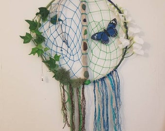 Driftwood beach glass dreamcatcher