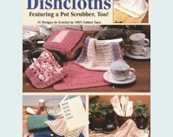 Leisure Arts Crochet Pattern Leaflet Dishcloths Part No. 2077