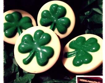 St. Patrick's Day shamrock  Three Leaf Clover chocolate oreos