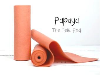 Wool Felt Roll - 100% Wool Felt in color PAPAYA  - Craft Felt - Merino Wool