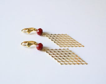 Earrings LARISA [gold plated silver and brass.