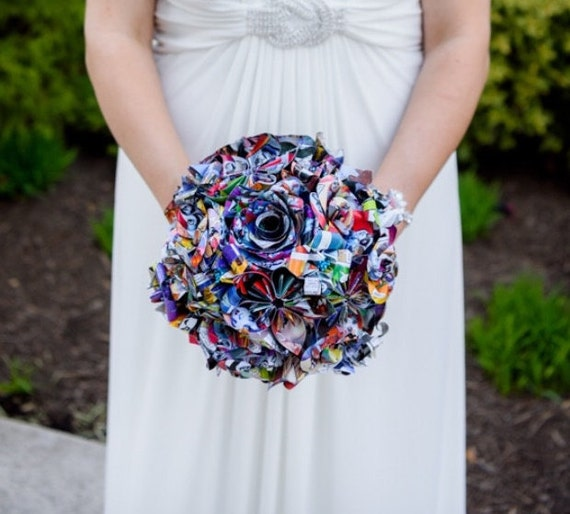 Custom Paper Flower Wedding Packages. You Pick The Colors, Papers, Books, Etc.  Anything Is Possible. CUSTOM ORDERS WELCOME