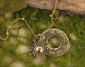 You Are My Sunshine Sun Necklace