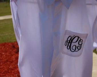 Monogram Wedding Day Button Down Shirt  great wedding party gift
