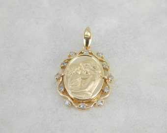 Mother And Child Pendant In Diamonds And Gold 4JZCX2-R