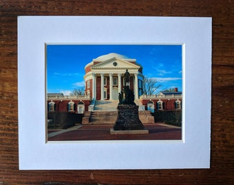 UVA Grad Gift | 5x7 Matted Photo | Rotunda at UVA | University of Virginia | Thomas Jefferson Picture | UVA Wall Art | Wahoos | Cavaliers