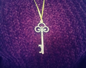 Copper key necklace