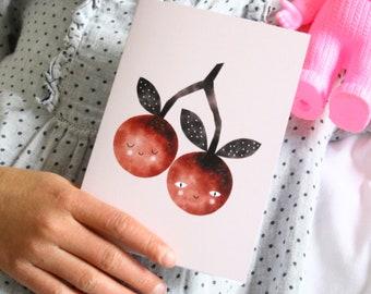New! Sweet Cherries Greeting Card
