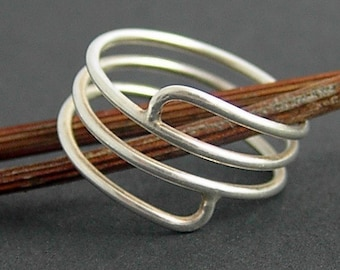 Wound Up Ring - Sterling Silver Made to Order