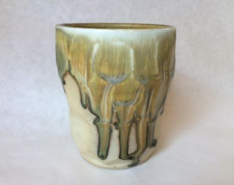 Wood fired Faceted Porcelain Tumbler