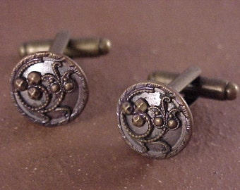 Victorian Clothing Button Cuff Links