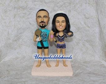 WWE wedding cake topper, Boxing wedding cake topper, fighting, funny cake topper, unique cake topper, cake topper for wedding, WWE