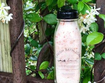 Bath Soak / Bath / Soak / Epsom Salt / Himalayan Salt / Sore Muscles Relax / Vegan / Glass / Essential oils / Lavender / valentines gift /