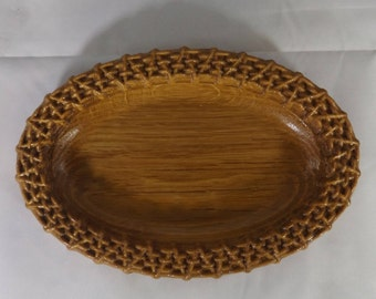 Oak Wood Soap Dish