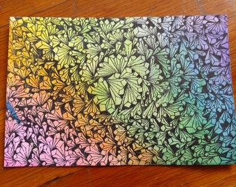 Abstract Crystal drawing