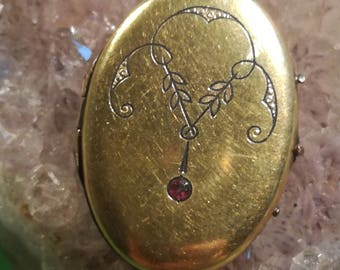 Art Nouveau, Anhäger, pendant, gold double, gilded, gold plated, A2