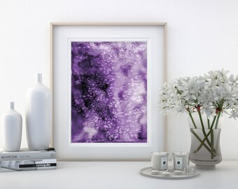 "Abstract Watercolor Painting, purple, Serene, Peaceful, Tranquil, Original art ""Serene Moments 36"" Kathy Morton Stanion EBSQ"
