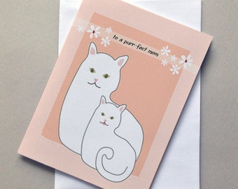 Cat and Kitten, Mothers Day Card, For Mom, Mom, Wholesale, Mom Birthday