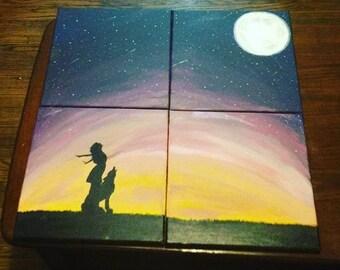 Sunset silhouette- custom made