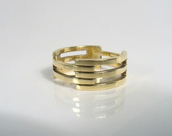 Architectural Gold Ring - perfect wedding ring