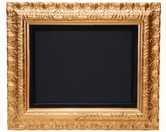 Vintage Framed Chalkboard in Metallic Copper, Silver and Gold / Large Ornate Detailed Frame