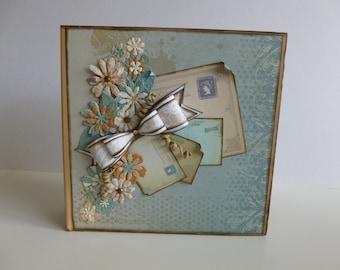 "8"" x 8"" scrapbook album /scrapbooking/journalling/memory album/keepsake book"