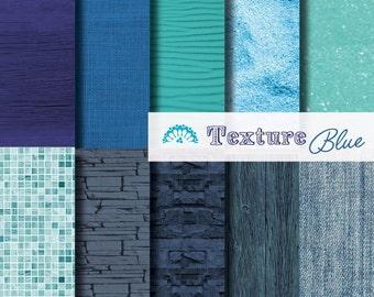 Digital paper Texture Blue