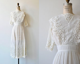Bridlemere dress | 1910s tea dress | white cotton Edwardian dress