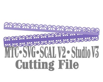 SVG Border Scallop Set #16 and #17 Cut File Bundle of 18 Scrapbooking  MTC Silhouette Cricut SCAL Cutting File