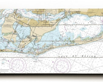 FL: Anna Maria Island, Longboat Key, FL Nautical Chart Sign, Anna Maria Island Map Sign, Longboat Key Map Sign