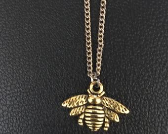 Honeybee Necklace Gold Color