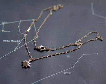 North Star Necklace, Rose Gold Star Necklace, Rose Gold Compass Necklace, Inspirational Gift, Wanderlust Gift, Celestial Necklace Wanderlust