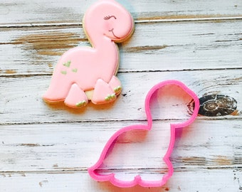 Chubby Brontosaurus Cookie Cutter, chubby dinosaur, dino