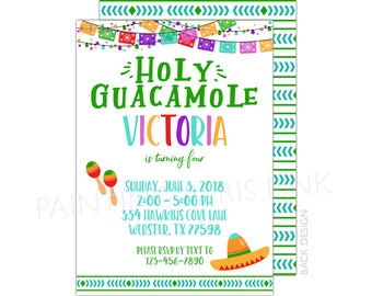 Fiesta Birthday or Baby Shower Invitation | Printable OR Professionally Printed | 5x7 | Cinco De Mayo