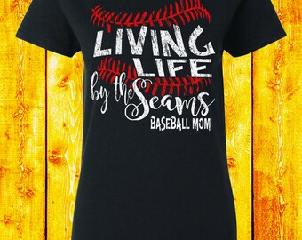Baseball Mom Shirt Baseball Mom Shirts Baseball Laces Shirt Baseball Gift Baseball Team Shirt Love Baseball Mom Clothing Coach Gifts 5000L