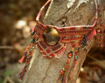 native american jewelry, choker necklace, handmade jewelry, statement jewelry, necklaces for women, boho jewelry, fashion jewelry, macrame