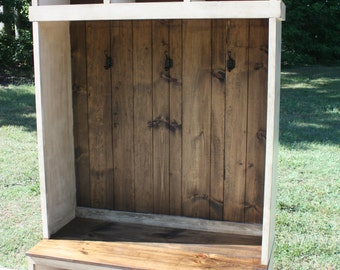 Hall Tree, Locker, Foyer, FREE SHIPPING, Country, Rustic, Cottage, Shabby, Distressed, Primitive, 11 Colors Available.