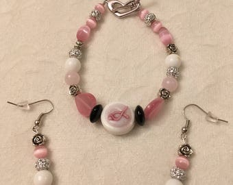 Bracelet Sets, Breast Cancer, Valentine's Day, Mother's Day, Earrings