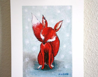 Red Red FOX PRINT