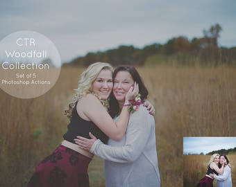 Woodsy Photoshop Actions, CTR Woodfall Actions, Autumn Action Set for Photoshop, Fall Photoshop Actions for Photographers - Set of 5
